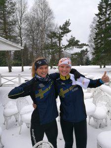 Karolin Ohlsson, Järla Orientering och Anna Backman, IFK Lidingö